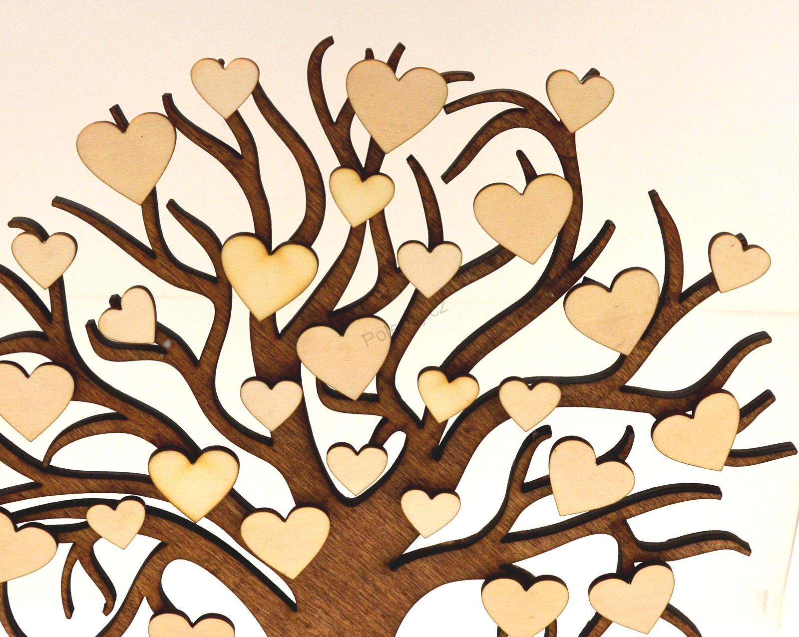 Drevena Srdicka Na Strom Prani 10 25 Ks Svatebni Svatba Dekorace